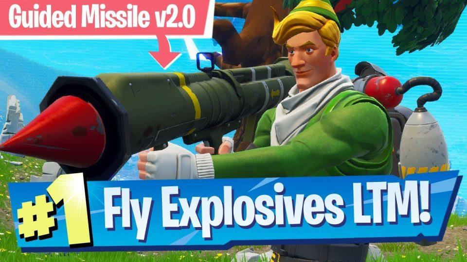 fortnite fly explosives