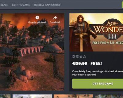 Age of Wonders 3 Gratis su Humble Bundle