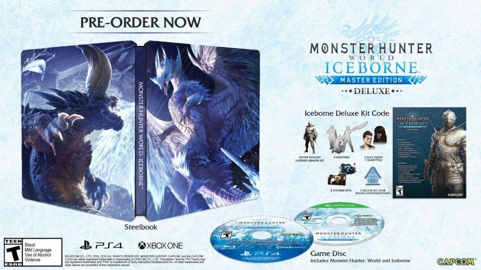 monster hunter world iceborne dlc preorder