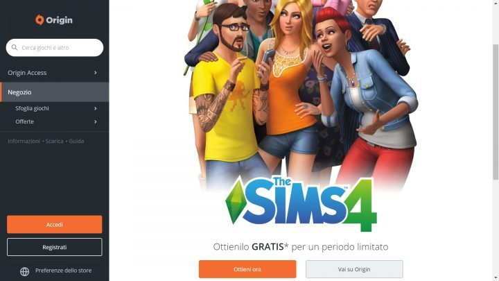 The Sims 4 Gratis per PC su Origin