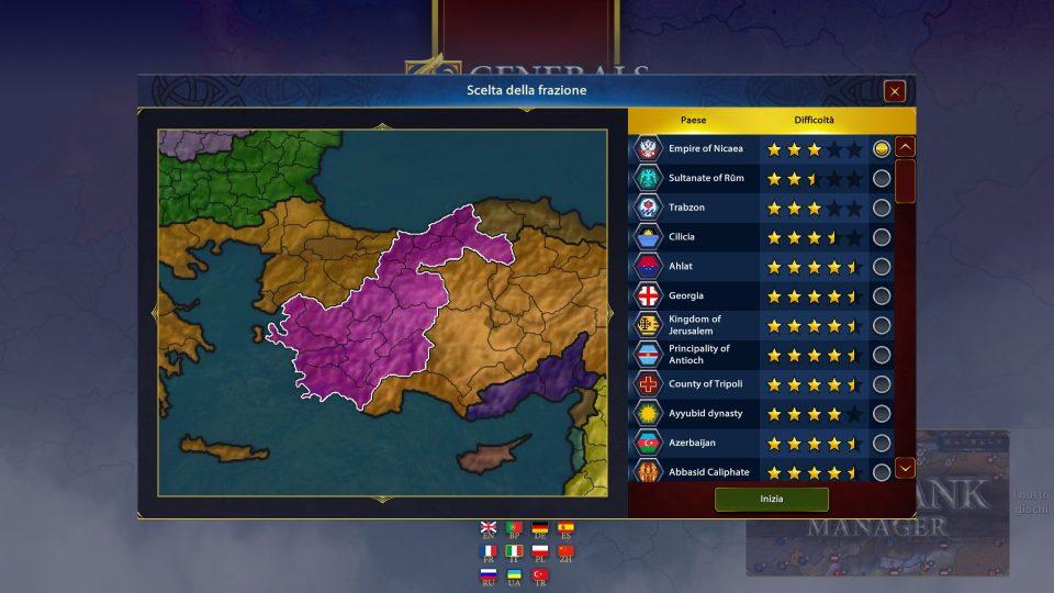 Generals & Rules nazioni