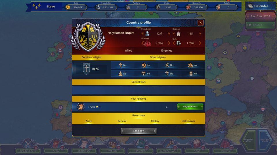 Generals & Rules profilo nazione