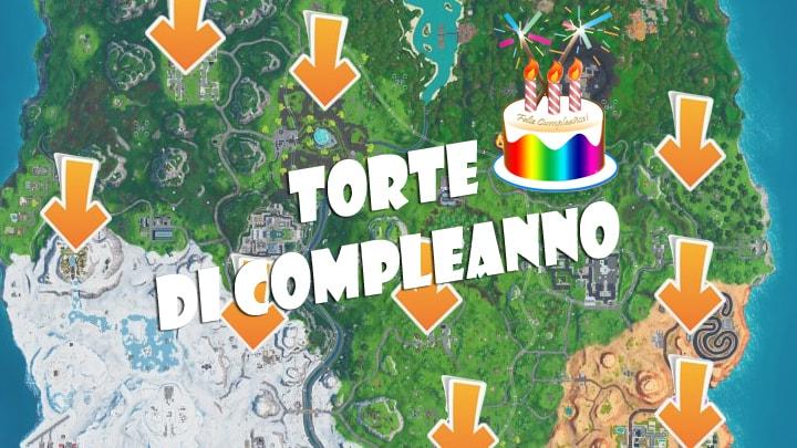 fortnite torte di compleanno mappa
