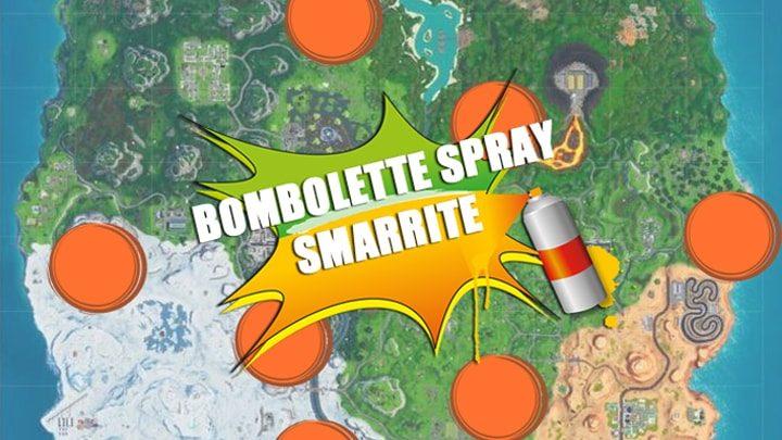 Fortnite Spara e Spera: come trovare le bombolette spray smarrite – Mappa