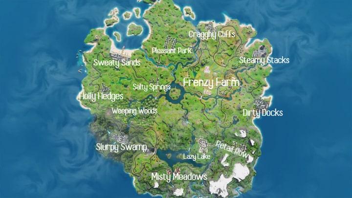 Fortnite: Ecco la nuova mappa del capitolo 2