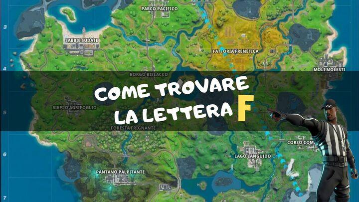 fortnite lettera f mappa