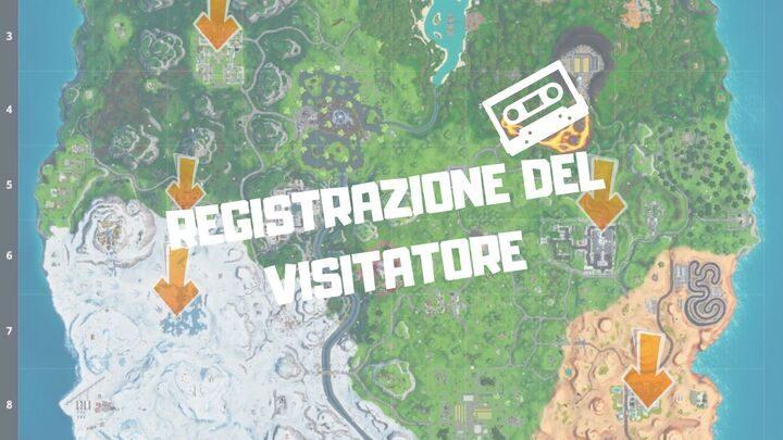 Fortnite: dove trovare la registrazione del visitatore – Mappa
