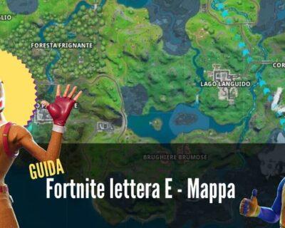 Fortnite: dove prendere la lettera E – Mappa