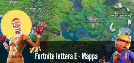 fortnite lettera e mappa