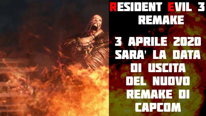 Resident Evil 3 Remake: data di uscita svelata