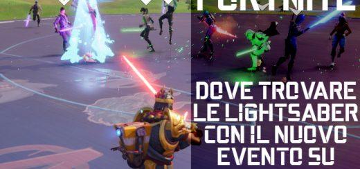 Fortnite: dove trovare le lightsaber