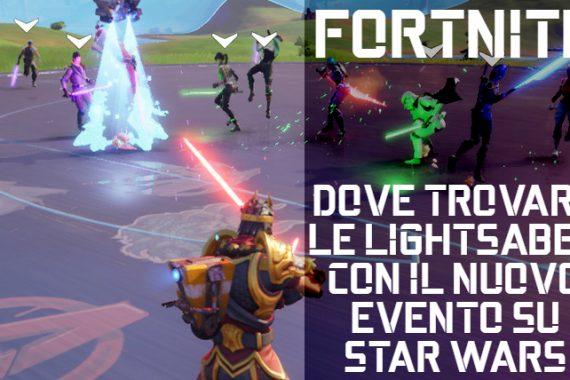 Fortnite: dove trovare le lightsaber di Star Wars