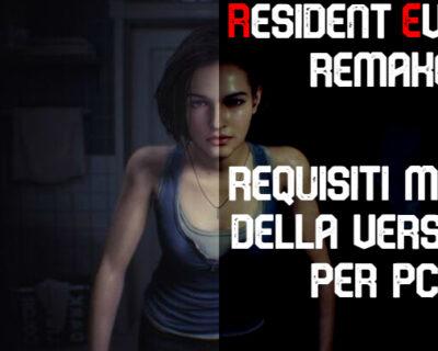 Resident Evil 3 Remake: requisiti per PC