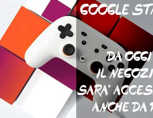 Google Stadia: il negozio accessibile da PC