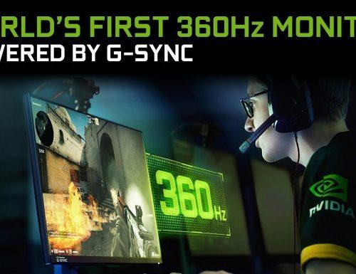 Nvidia: Annunciato il nuovo monitor a 360Hz con ASUS