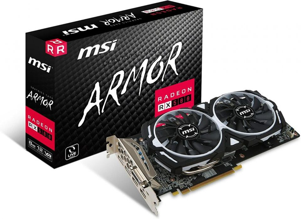 PC da gaming fascia media MSI RX 580 Armor 8G OC