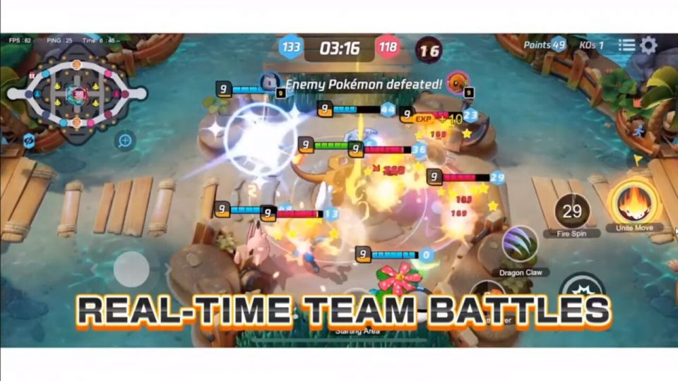 Pokémon Unite battaglie