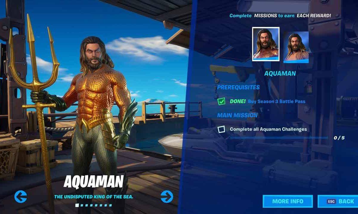 Fortnite: Come ottenere la skin di Aquaman