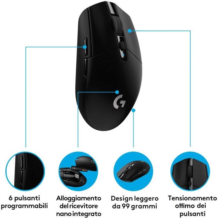 migliori mouse wireless economici - Logitech G305