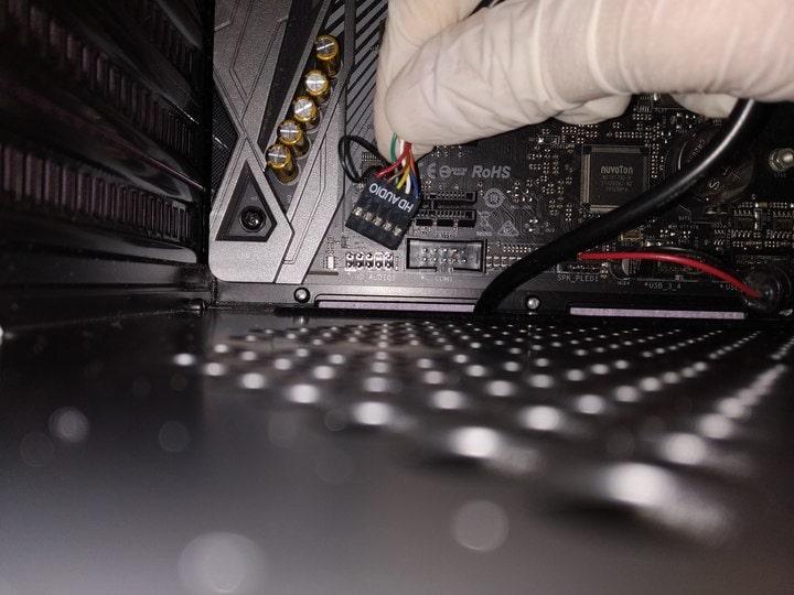 Come collegare cavo audio interno