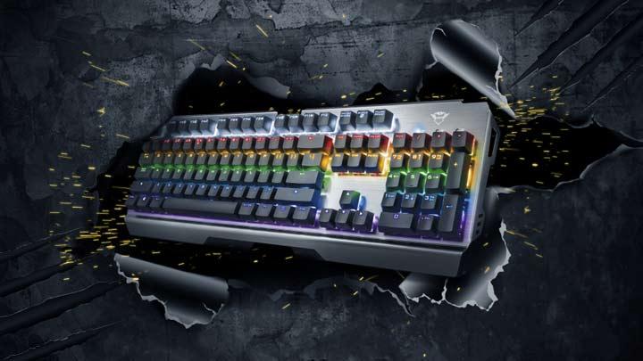 trust gxt 877 scarr tastiera da gaming