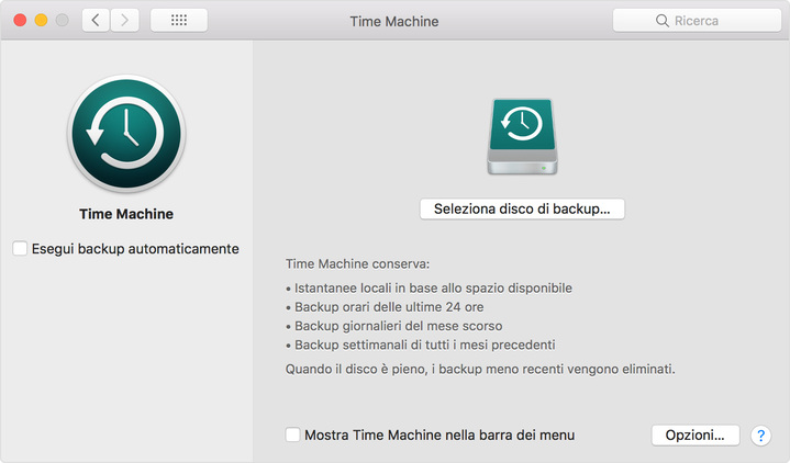 Come clonare un Hard Disk su mac time machine
