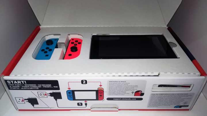 Cosa contiene la scatola di Nintendo Switch