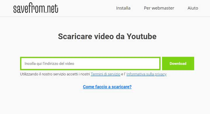 scaricare-video-youtube-savefrom