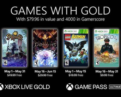 Xbox Live Gold: da oggi disponibili altri due giochi gratis